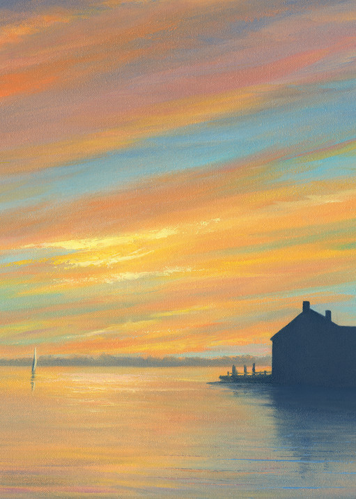 Cape Cod Sunset From Lewis Bay In West Yarmouth Art | Tarryl Fine Art