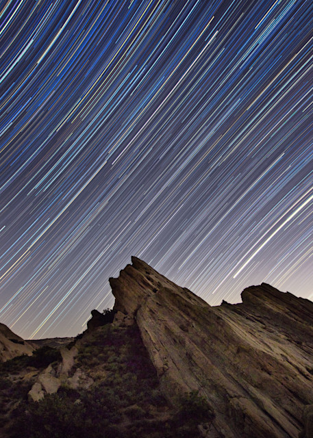 Stars Trailing Over Vasquez Rocks Art | Chad Wanstreet Inc