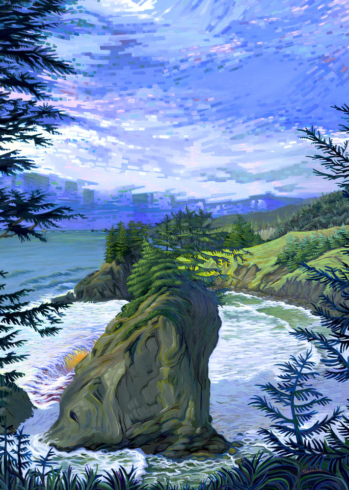 Salt Crystal Gazing Original Painting by Spencer Reynolds