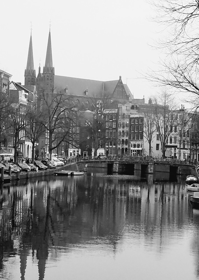 Amsterdam With The Kritjberg Church Photography Art | Photoissimo - Fine Art Photography