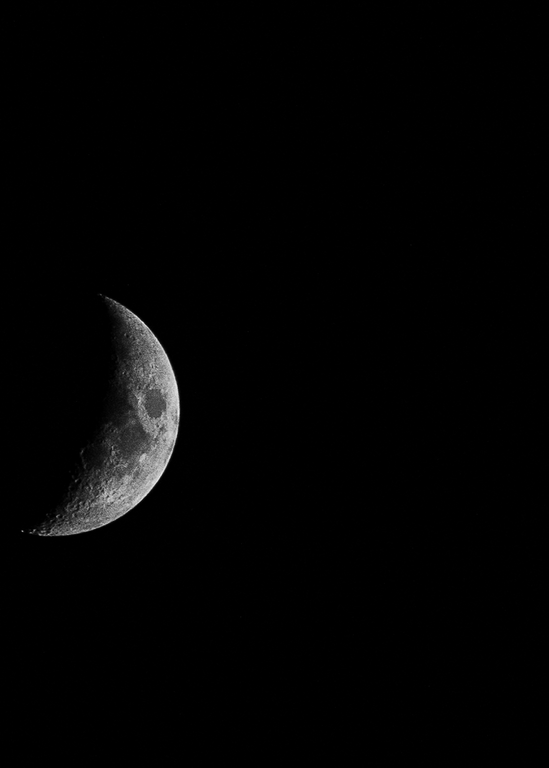 Crescent Moon In The Dark Photography Art | Happy Hogtor Photography