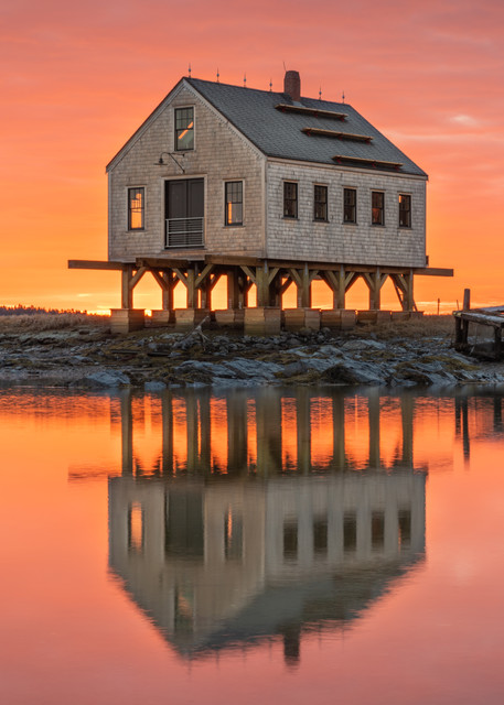 Symmetrical Sunrise At Cape Porpoise Photography Art | Jesse MacDonald Photography