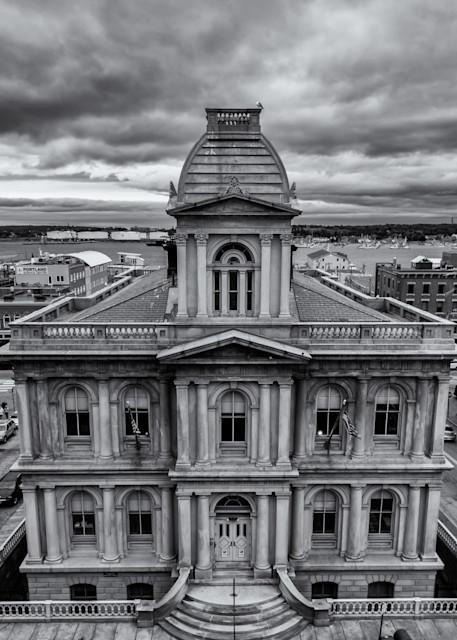 Portland Custom House in Black & White