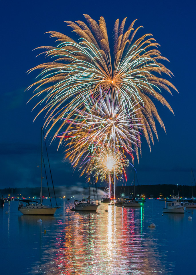 Boothbay Harbor Independence Day Photography Art | Jesse MacDonald Photography