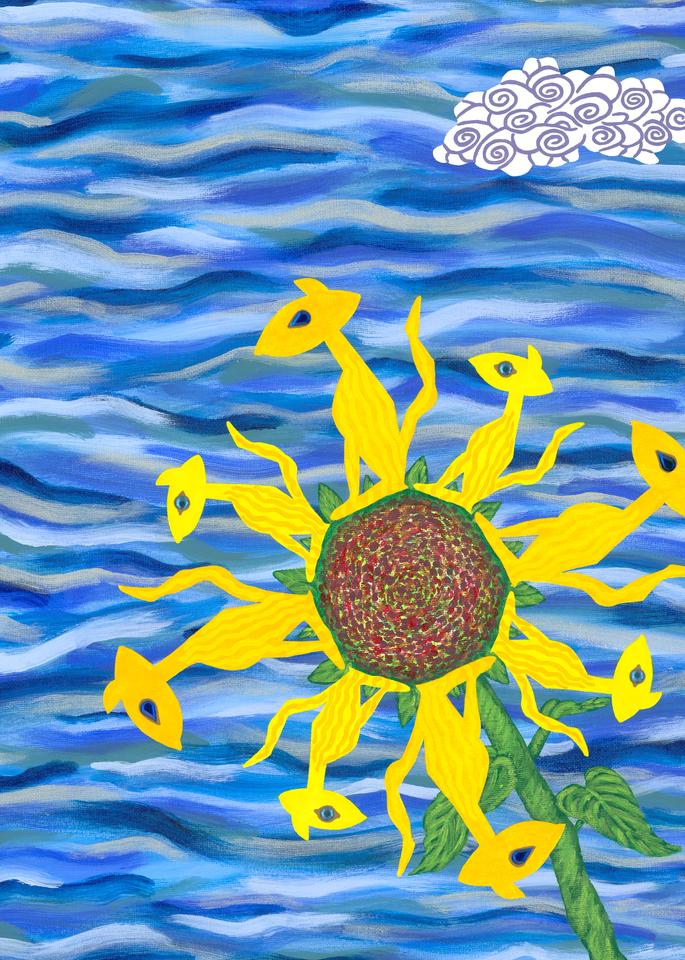 Sun Cat Flower Art | Off The Edge Art