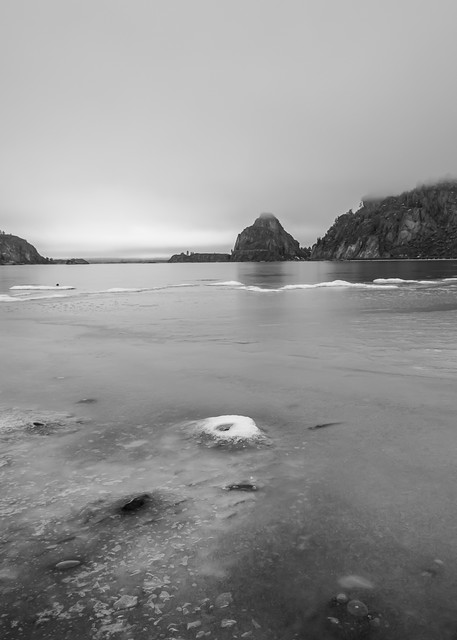 Frozen, Banks Lake, Steamboat Rock State Park, Washington, 2013