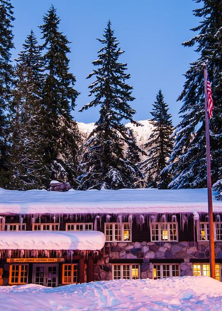 Winter, Mount Rainier Administrative Building, Longmire, Washington, 2017