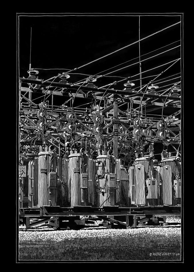 Danger Electrocuted Man Art | Andre Junget Illustration LLC