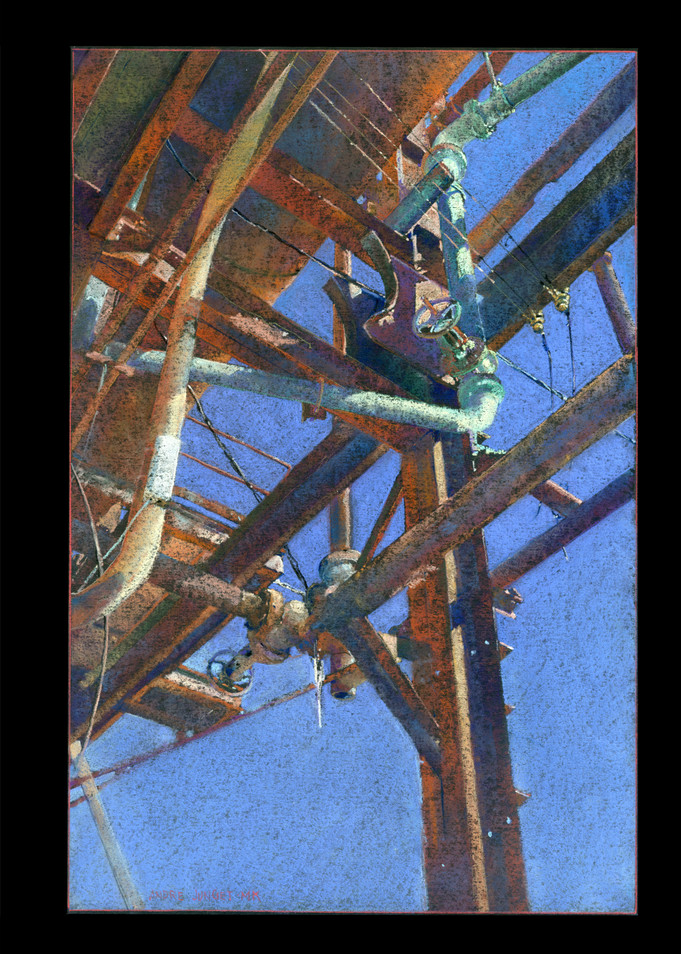 Carrie Furnace 2 Valves Art   Andre Junget Illustration LLC