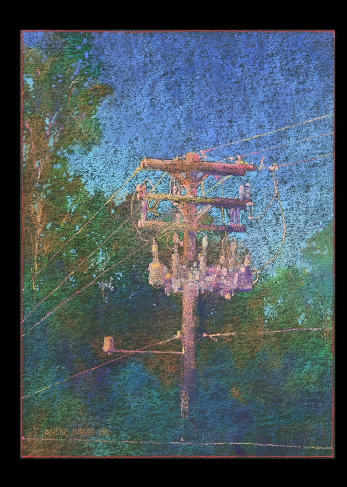 Utility Pole 2 Art   Andre Junget Illustration LLC