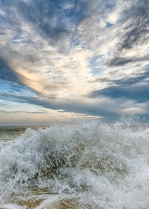 Moshup Beach Splash And Clouds Art | Michael Blanchard Inspirational Photography - Crossroads Gallery