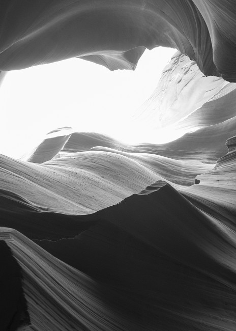 Antelope Canyon B/W #2 Photography Art | Kit Noble Photography
