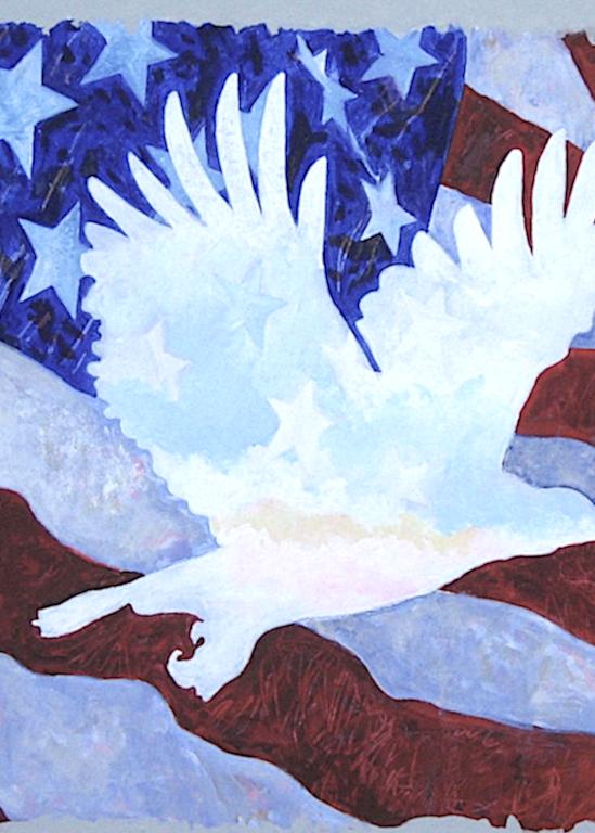 Eagle In Flag Art   terrycrump