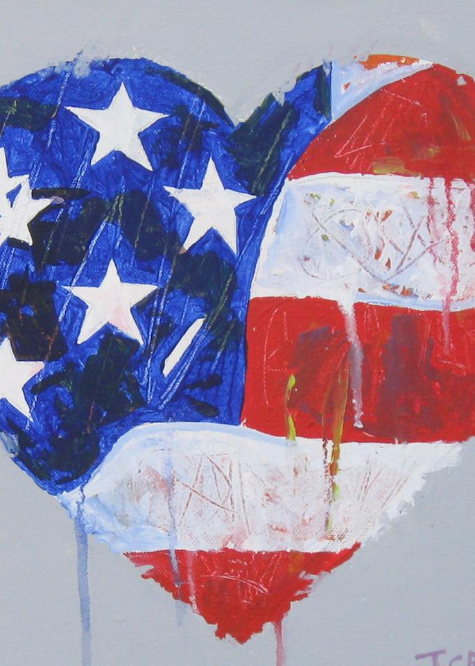 Flag Heart Art | terrycrump