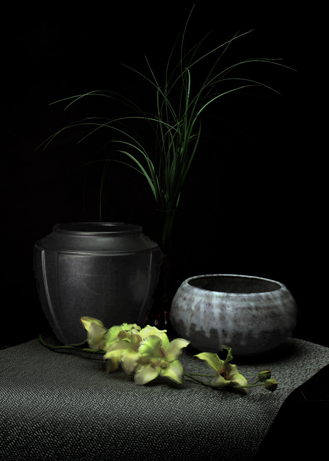 A Fine Art Photograph of Flowers within bowls by Michael Pucciarelli
