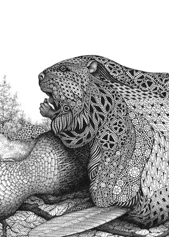 "Beaver Art | Kristin Moger ""Seriously Fun Art"""