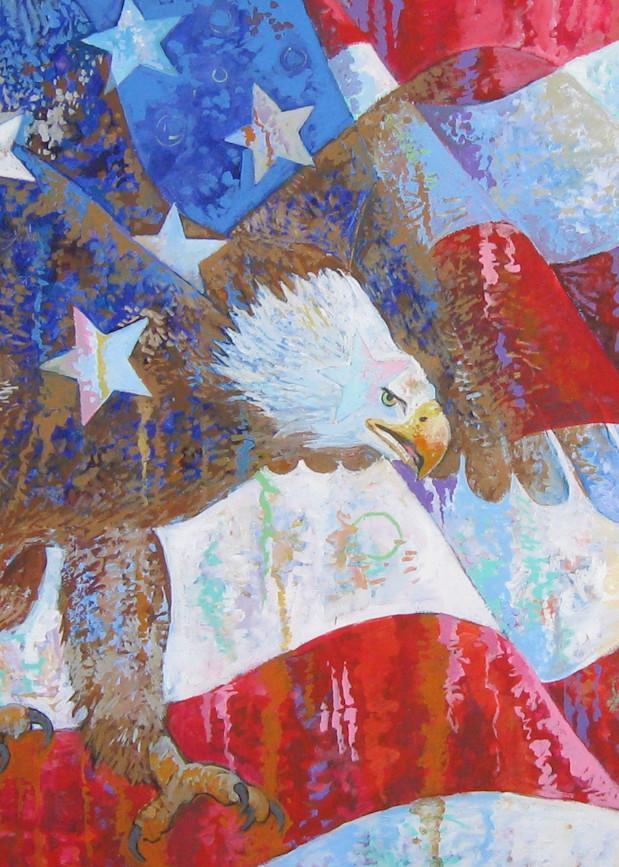 Flag with Eagle