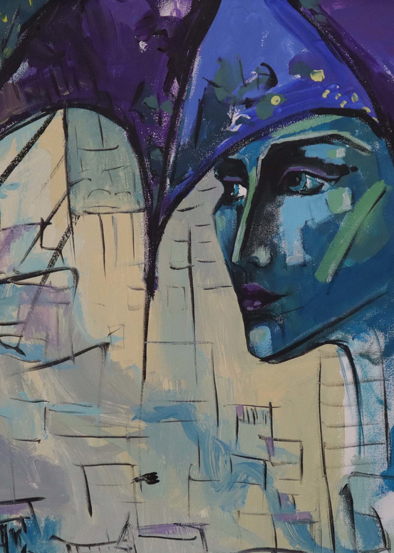 Purple Portrait Art | Merita Jaha Fine Art