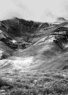 Tombstone Mountain Panorama Black And White Photography Art | Hatch Photo Artistry LLC