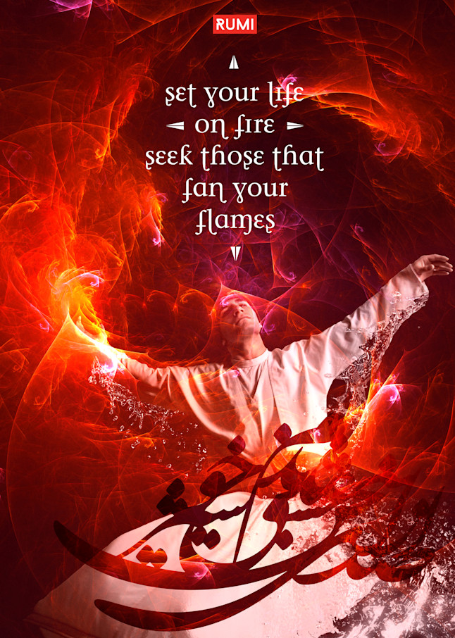 Set Your Life On Fire Art | Awake Graphics, LLC