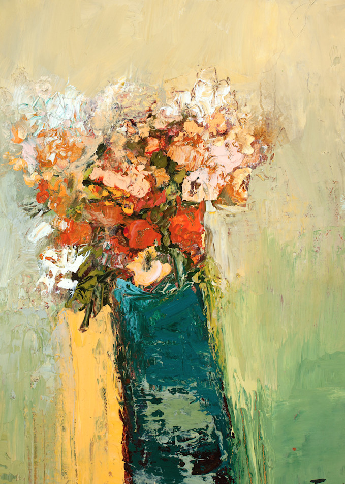 Modern Floral Roses In A Vase Canvas Wall Art