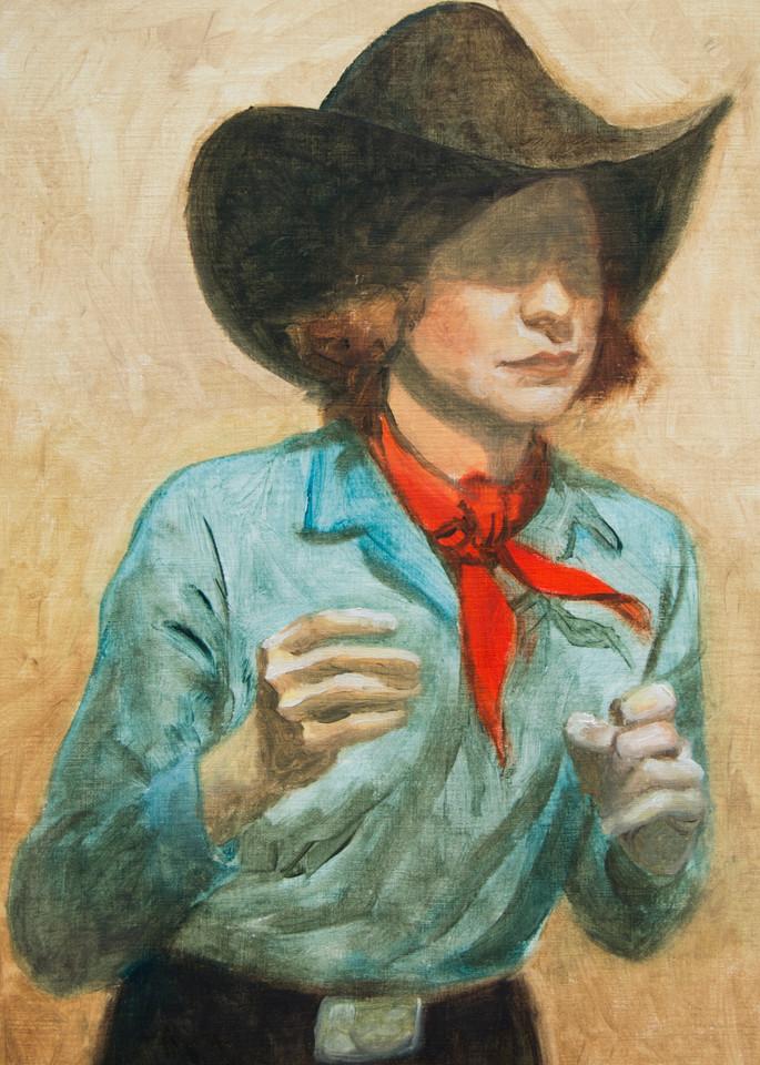 Cowboy Study 1 Art   Kym Day Studio