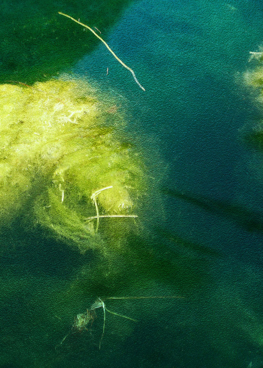 submerged light underwater abstraction deep green
