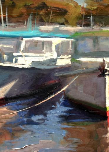 Lunch Boats  Art   robincaspari
