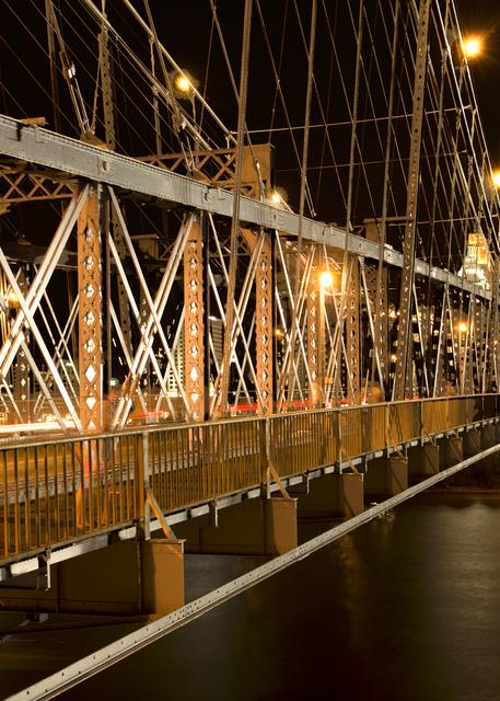Roebling Bridge At Night Girders Photography Art | Hatch Photo Artistry LLC