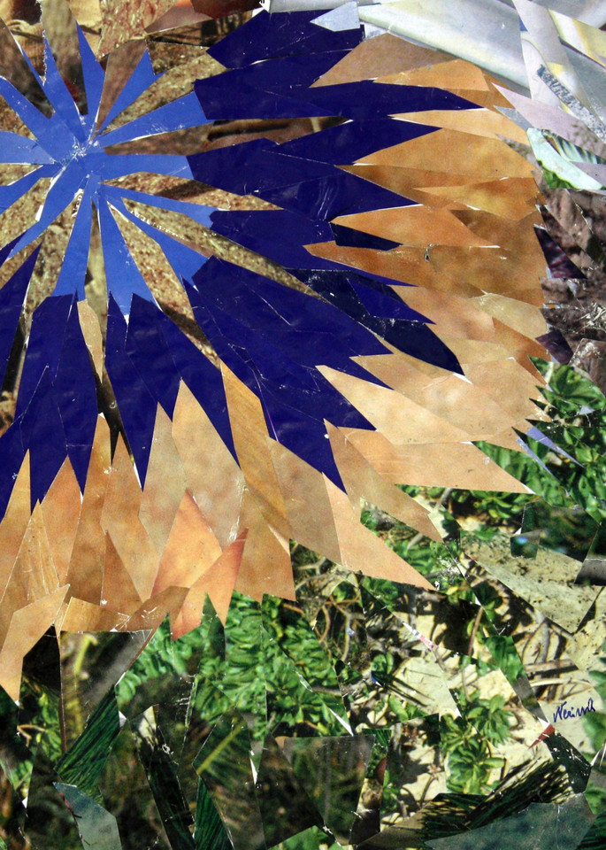 Fiore Blu - (Blue Flower) - by Italian artist Nerina Cocchi Zecchini