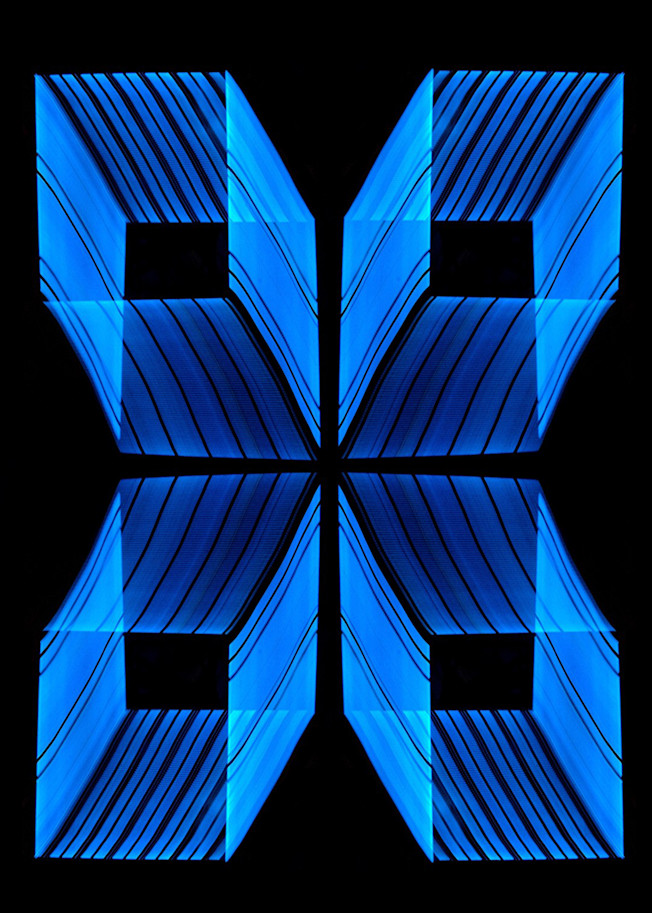 Daly City Neon Light Painting In A Pattern Photography Art | David Louis Klein