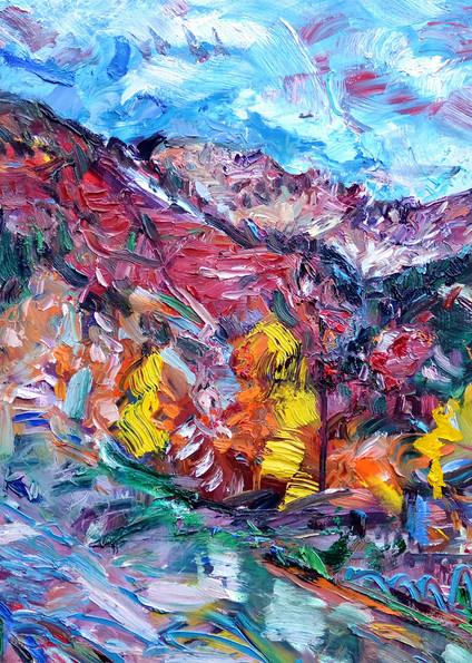 """San Sophia And The Lion"" Art | Daniel Kanow Fine Art"