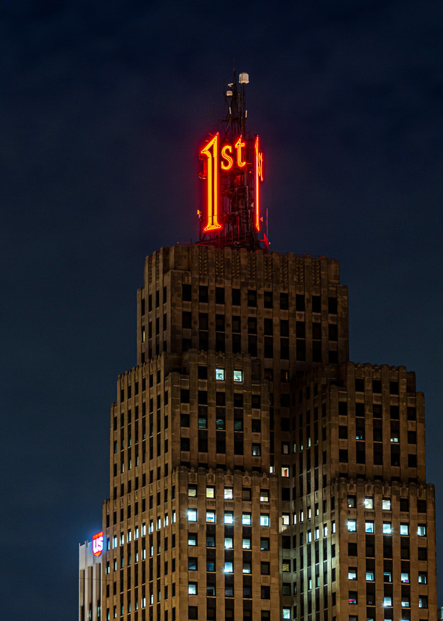 First National Bank Building Saint Paul At Night Photography Art | William Drew Photography