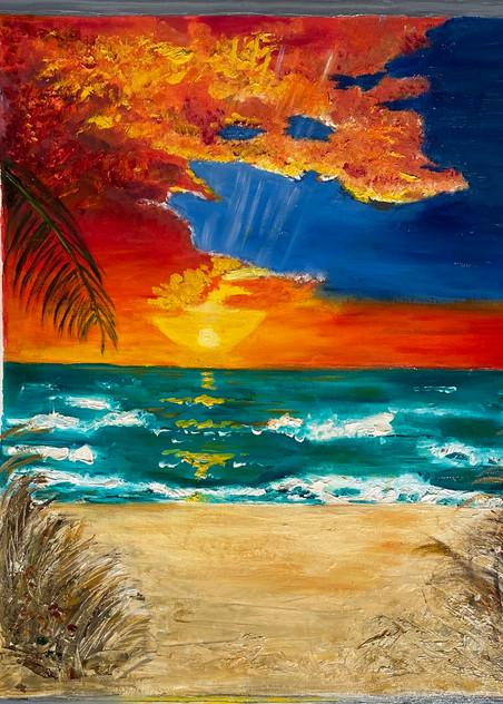 Paradise Through The Window Art | Coat Of Many Colors