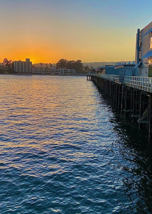 Sunset On The Pier Santa Cruz Art | Coat Of Many Colors