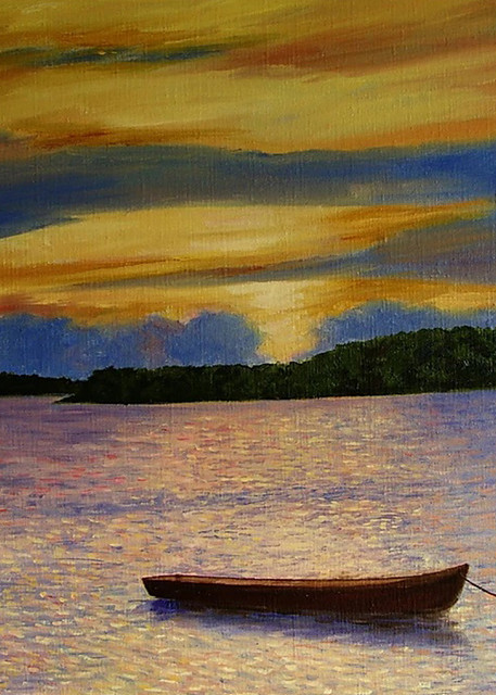 Sunset Anchor, From an Original Oil Painting