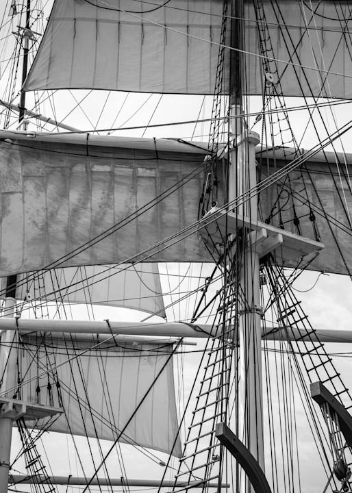 Charles W. Morgan | Fore and Mainmast Topsails