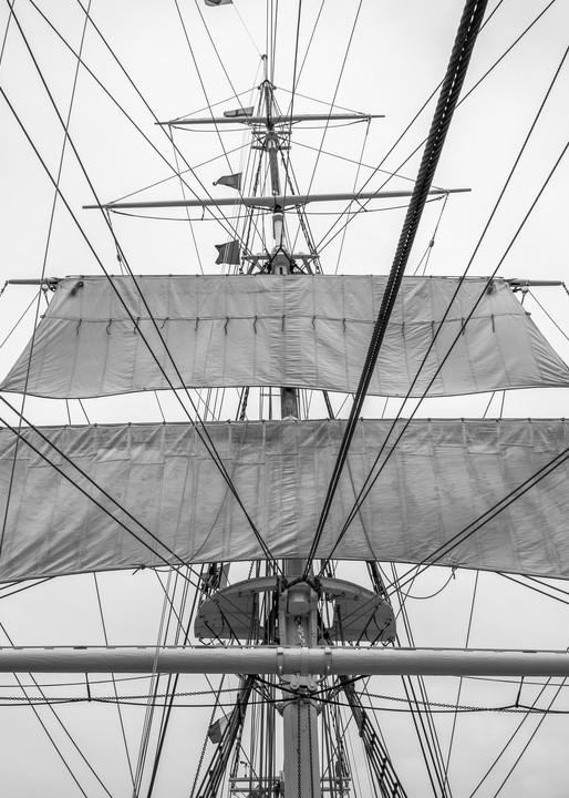 Lower Main Topsails - Charles W. Morgan