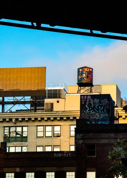Stained Glass Water Tower Under Manhattan Bridge  Photography Art | Ben Asen Photography