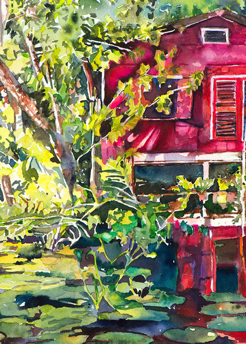 Living On The Sweet River, From an Original Watercolor Painting