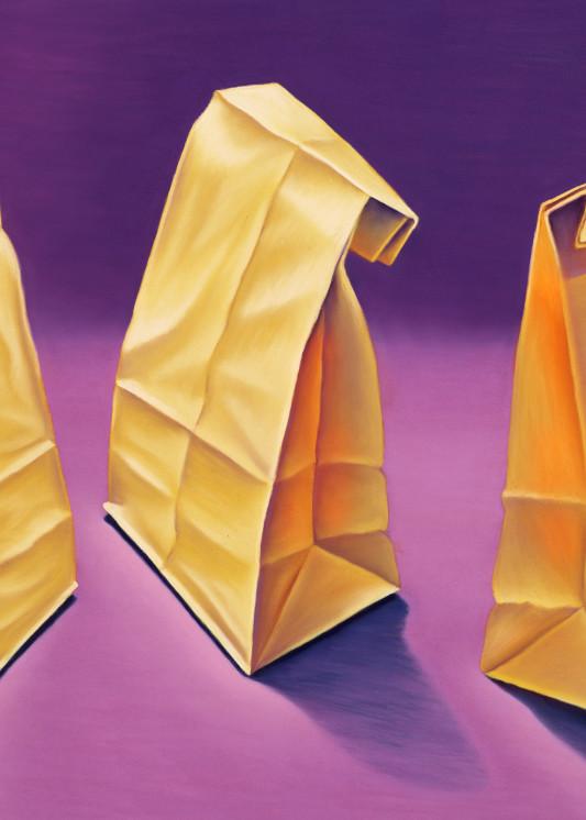 Glowing Lunch Bags Art | Gema Lopez Fine Arts