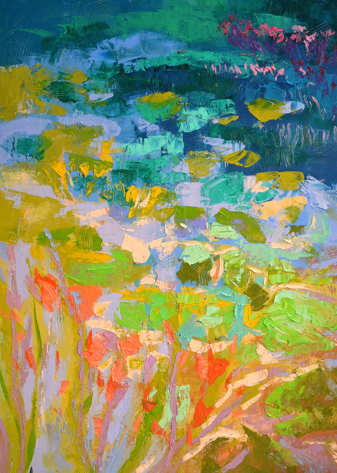 Waterlilies Painting Fine Art Print by Dorothy Fagan