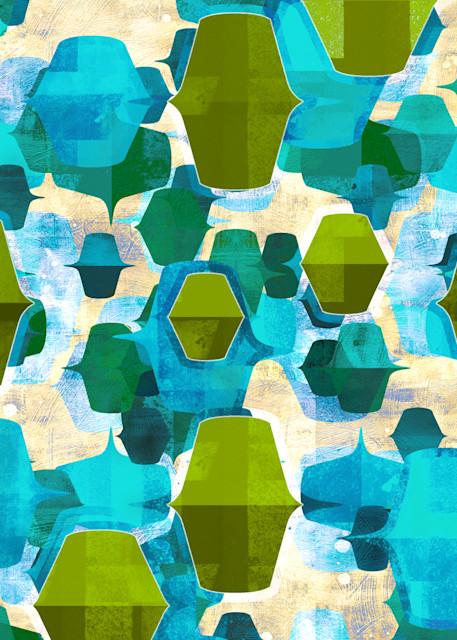 abstract art print, abstract wall art, retro style art, turquoise art, aqua abstract art, 1960s art