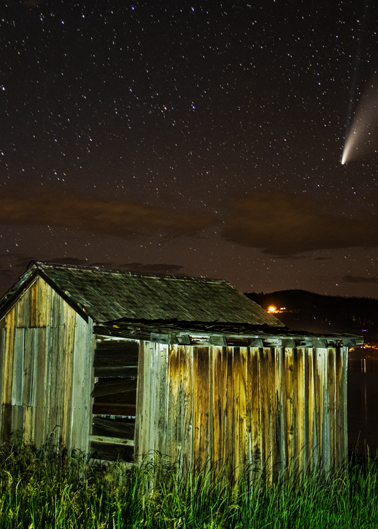 Neowise And The Shed Photography Art   Craig Primas Photography