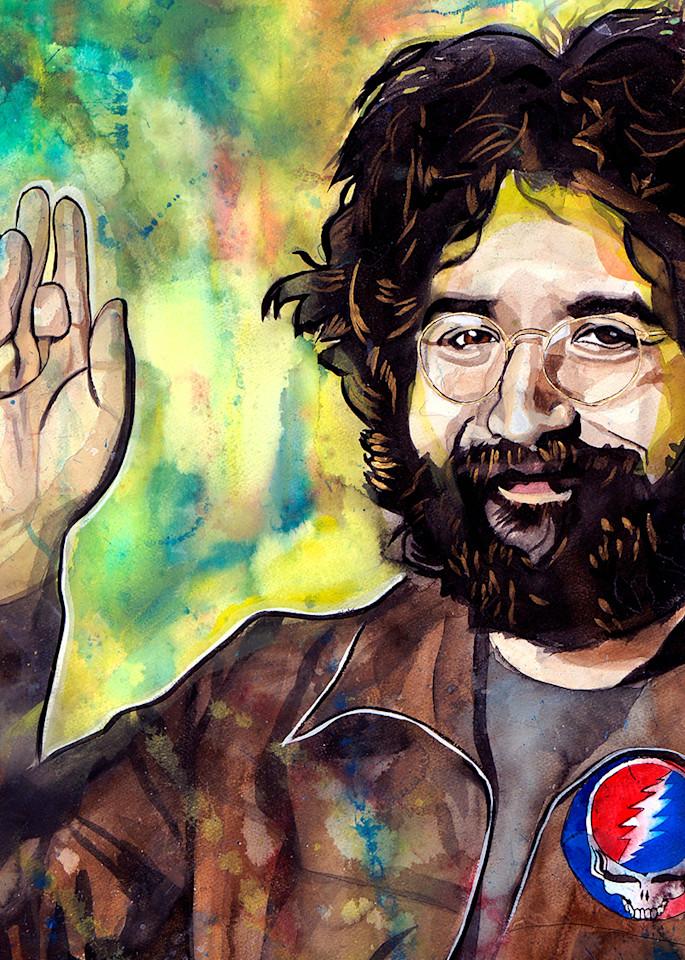 Jerry Garcia Life Force Coaster Art   William K. Stidham - heART Art