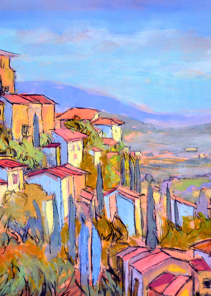 Cascading Dreams V (Lavender Fields Of Provence) Art   Dorothy Fagan Joy's Garden