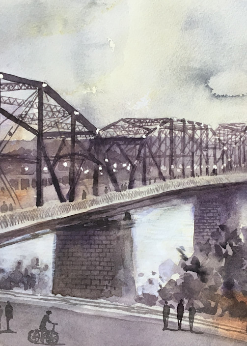 Chattanooga Walnut Street Bridge Art | Romanova Art