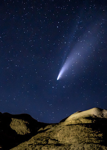 Comet Over Bisti I I Photography Art | Peter Batty Photography