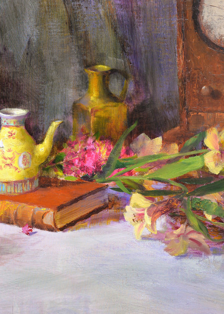 Antique Books And Chinese Teapot Art | Liliedahl Art