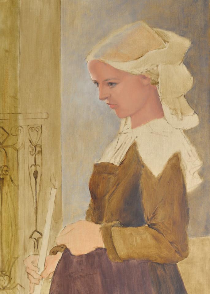 Study   Breton Girl Art | Liliedahl Art